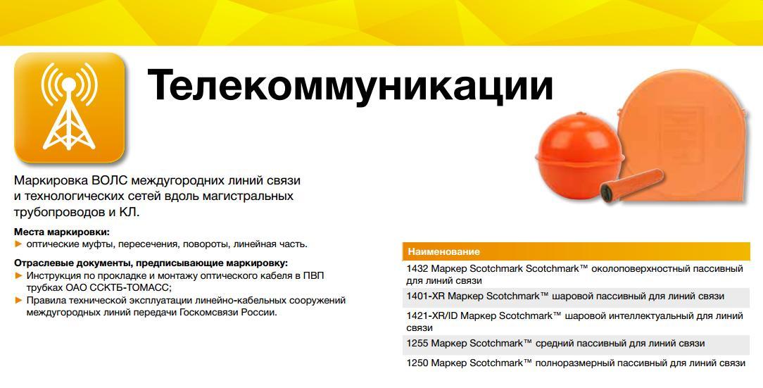 Электронные маркеры для телекоммуникаций