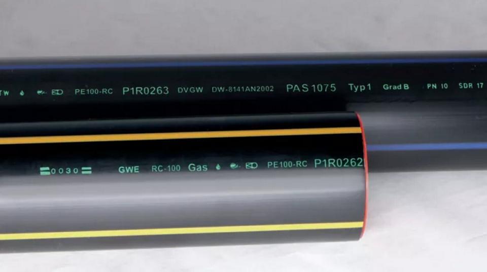 Маркировка полиэтиленовых труб ПЭ фото