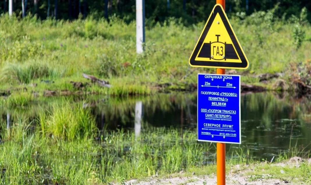 Обозначение газопроводов на местности с помощью опознавательных знаков