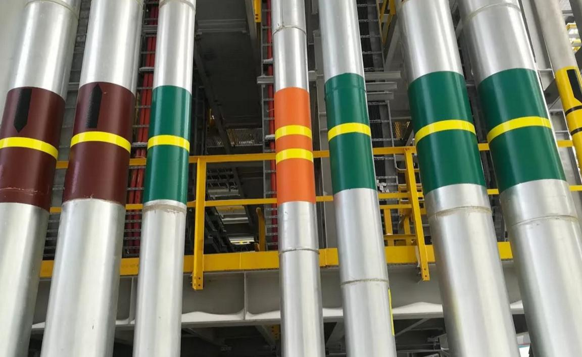Маркировка трубопроводов с помощью окраски и колец