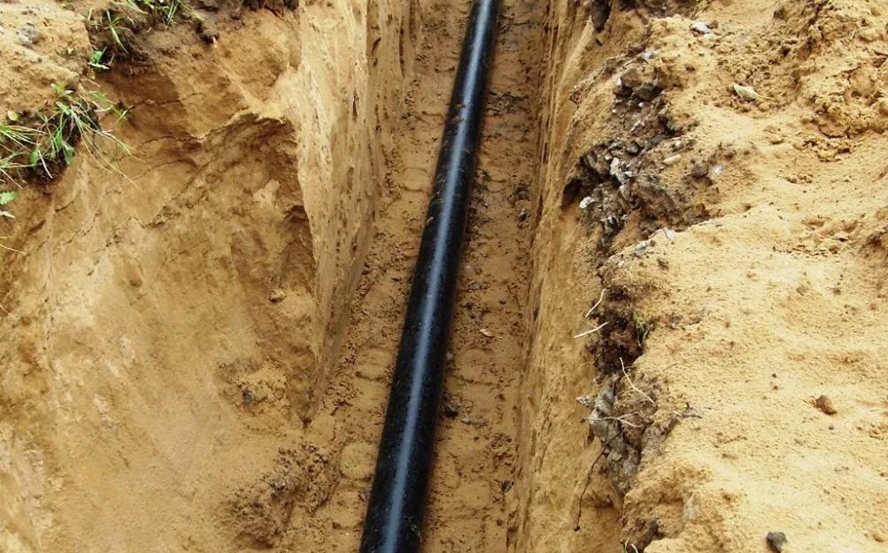 Подземная прокладка газопровода