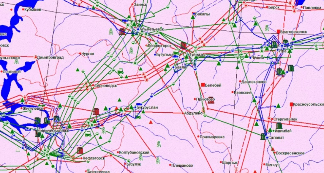 Электронные карты инженерных сетей и коммуникаций