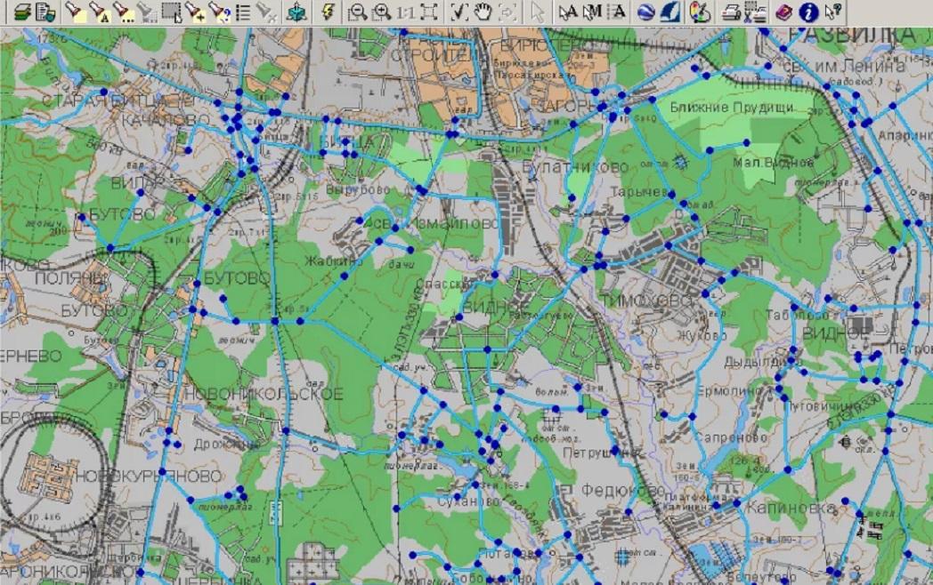 Нанесение линий связи на электронные карты